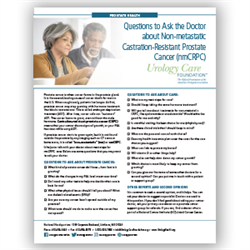 Questions to Ask the Doctor About Non-metastatic Castration Resistant Prostate Cancer