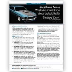 Men's Urology Tune-Up Fact Sheet