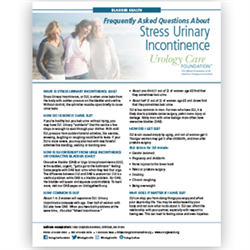 Incontinence - Frequently Asked Questions about SUI