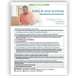 Prostate Cancer Screening Assessment Tool - Spanish