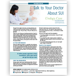 Incontinence - Talking to Your Doctor About SUI