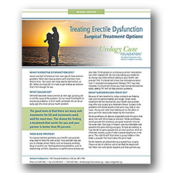 Erectile Dysfunction: Surgical Options Fact Sheet