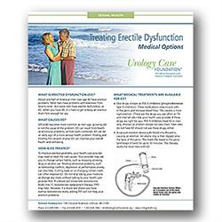Erectile Dysfunction: Medical Options Fact Sheet