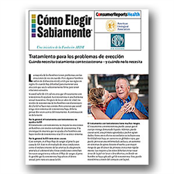 Choosing Wisely: Treatment for Erection Problems (Spanish) Fact Sheet