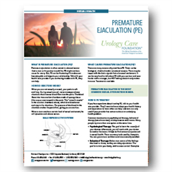 Premature Ejaculation Fact Sheet
