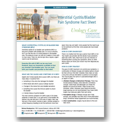 Interstitial Cystitis/Bladder Pain Syndrome Fact Sheet