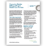 Talking to Your Healthcare Provider About Overactive Bladder